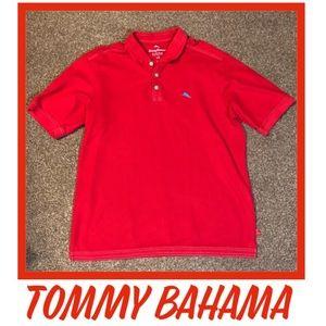 Tommy Bahama Red Supima Polo Shirt